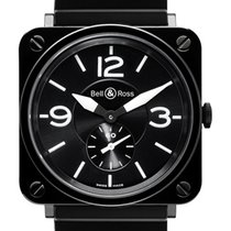 Bell & Ross BR S Quartz 39mm BRS Black Ceramic Bracelet