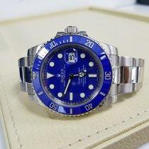 Rolex SUBMARINER 18K White Gold Watch Blue Ceramic