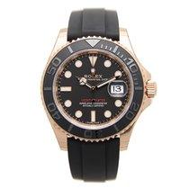 勞力士 (Rolex) Yacht Master 18k Rose Gold Black Automatic 116655BK