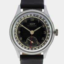 Tissot 1947 Antimagnetique Calendar Gilt Dial Screw-Back