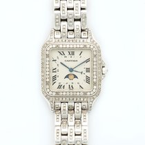 Cartier Panthere Moonphase 18K Solid White Gold Diamonds