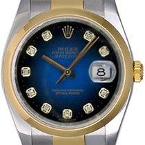 Rolex Datejust Men's 2-Tone Watch Blue Vignette Diamond...