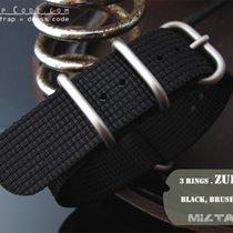 MiLTAT 24mm 3D Black Woven ZULU Band