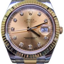 Rolex Datejust II 116333 Diamond Champagne 41mm Yellow Gold