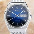Bulova BLUE 2-TONE AUTOMATIC 1970'S STAINLESS RETRO