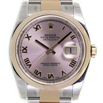 Rolex DATEJUST 36mm Steel & 18K Rose Gold Pink Roman Dial