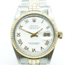 Ρολεξ (Rolex) Datejust 36mm Two Tone White Dial Roman Numerals