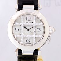 Cartier Pasha 18K white Gold Date Diamond Grid Automatic Box...