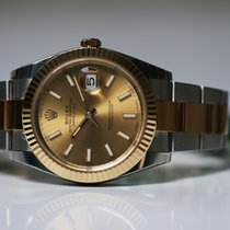 Rolex datejust new model Champagne dial Unworn 2017
