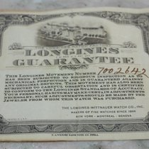 Longines rare paper warranty for 30ch or other models