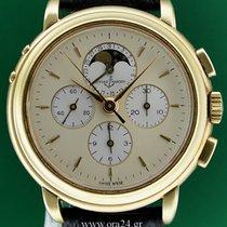Ulysse Nardin Chronograph 53122 Moonphase 18k Gold Lemania...