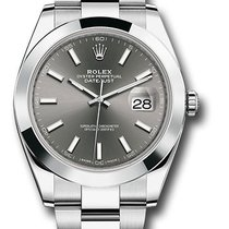 Rolex Datejust 41mm 126300 dkrio Dark rhodium dial