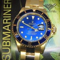 Rolex Submariner Date 18k Yellow Gold Blue Dial/Bezel Mens...