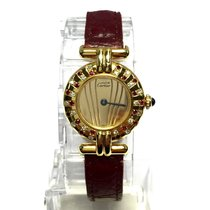 Cartier Colisée 18k Yellow Gp Ladies Watch Diamonds &...