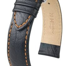 Hirsch Uhrenarmband Leder Jumper schwarz/orange L 04402052-2-2...