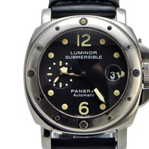 파네라이 (Panerai) Panerai Submersible Pam 024 SS on Leather Full...