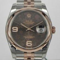 Rolex Datejust, Ref. 116201 - choco floral Diamant ZB/Jubileeband