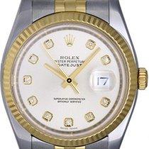Rolex Datejust 2-Tone Steel & Gold Men's Watch Silver...