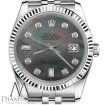 Rolex 26mm Datejust Black Pearl 8+2 Diamond Dial Jubilee...