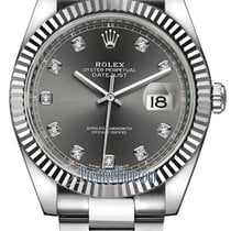 Rolex Datejust 41mm Stainless Steel 126334 Dark Rhodium...