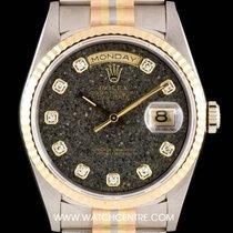 Rolex 18k Tridor Rare Ammonite Diamond Dial Day-Date NOS...