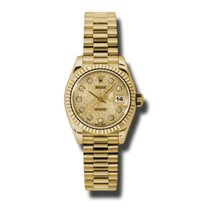Rolex Lady-Datejust President Yellow Gold Champagne  Diamond Dial