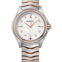 Ebel 1216319 Wave in Steel with Rose Gold Diamond Bezel - on...