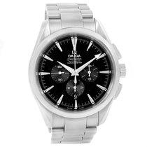 Omega Aqua Terra Black Dial Chronograph Steel Mens Watch...