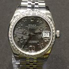 Rolex Datejust 31mm Grey Flower Dial Diamond Bezel DIAMONDS