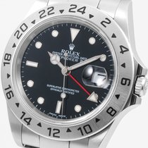 Rolex SS 40mm Explorer ll Black 16570 NO HOLES CASE