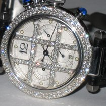 Cartier Pasha Automatic Steel Chronograph Diamonds
