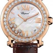 Chopard Happy Sport 36mm Gold Diamonds Pearl Lady
