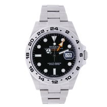 Rolex EXPLORER II Stainless Steel Black Dial