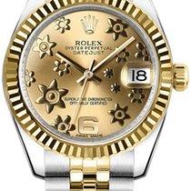 Rolex Unworn 178273chfj Datejust Midsize 2-Tone in Steel with...