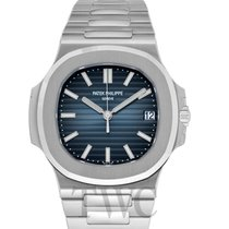 파텍필립 (Patek Philippe) Nautilus Black-blue/Steel 40mm -...