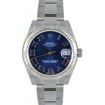 Rolex Datejust Ladies Midsize 178274-BLURO Blue Roman White...
