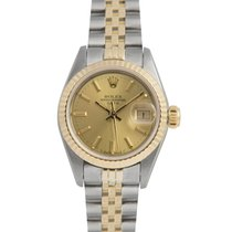 Rolex Datejust Ladies Steel & Gold with Champagne Dial 69173