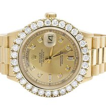 Rolex Mens Rolex President 18K Yellow Gold Day-Date 36MM 18038...