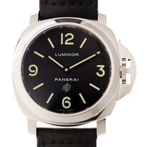 Panerai New  Luminor Stainless Steel Black Manual Wind PAM01000