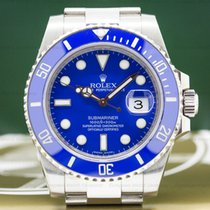 Rolex 116619LB 116619 LB Submariner 18K White Gold Blue Dial...