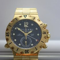 Bulgari Diagono Scuba GMT 38mm 18K Yellow Gold
