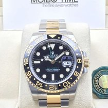 Rolex 116713LN GMT Master II GOLD STEEL Ceramic Bezel [NEW]