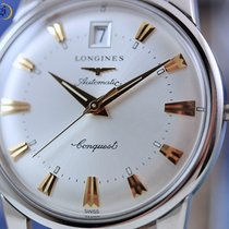 Longines Conquest Heritage Steel on Black Leather Automatic Watch