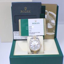 Rolex New Datejust MOP Diamonds 18K Gold & Stainless
