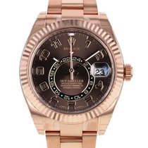 Rolex Sky-Dweller Oyster Perpetual Rose Gold Chocolate Dial