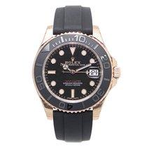 劳力士  (Rolex) Yacht Master 18k Rose Gold Black Automatic 268655BK