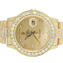 Rolex Presidential 18K Mens Yellow Gold Day-Date 36MM Diamond...