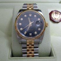 Rolex Datejust36 SS/18K Yellow Gold/Black Diamond Dial
