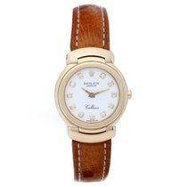 Rolex Cellini Ladies 18k Yellow Gold Diamond Watch 6621/8