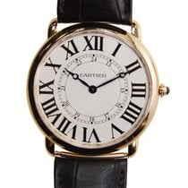 Cartier Ronde Louis Cartier 18k Rose Gold Silver Manual Wind...
